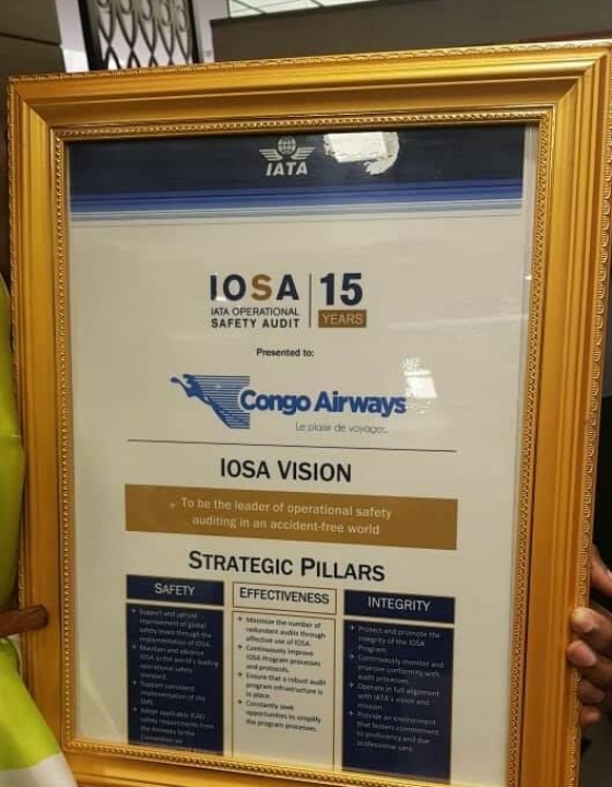 Success continues for Congo Airways with its IOSA Certification !